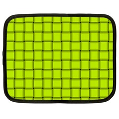 Fluorescent Yellow Weave Netbook Case (xxl)