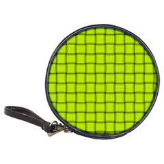 Fluorescent Yellow Weave CD Wallet