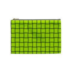 Fluorescent Yellow Weave Cosmetic Bag (Medium)