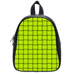 Fluorescent Yellow Weave School Bag (Small)