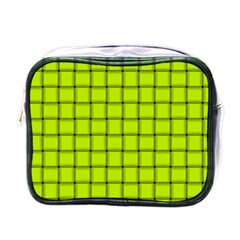 Fluorescent Yellow Weave Mini Travel Toiletry Bag (one Side)