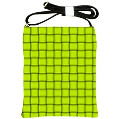Fluorescent Yellow Weave Shoulder Sling Bag