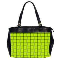 Fluorescent Yellow Weave Oversize Office Handbag (Two Sides)