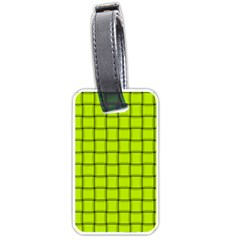 Fluorescent Yellow Weave Luggage Tag (Two Sides)