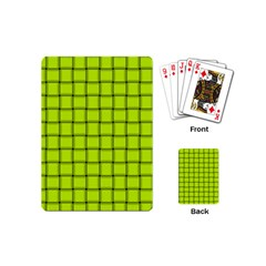 Fluorescent Yellow Weave Playing Cards (mini)