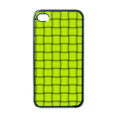 Fluorescent Yellow Weave Apple iPhone 4 Case (Black)