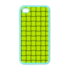 Fluorescent Yellow Weave Apple Iphone 4 Case (color)