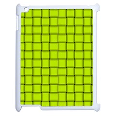 Fluorescent Yellow Weave Apple iPad 2 Case (White)