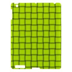 Fluorescent Yellow Weave Apple iPad 3/4 Hardshell Case