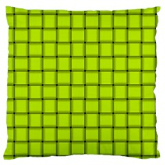 Fluorescent Yellow Weave Large Cushion Case (two Sides)