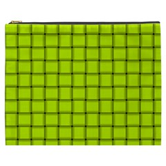 Fluorescent Yellow Weave Cosmetic Bag (XXXL)