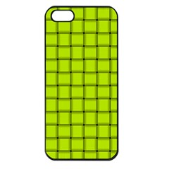 Fluorescent Yellow Weave Apple iPhone 5 Seamless Case (Black)
