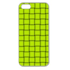 Fluorescent Yellow Weave Apple Seamless iPhone 5 Case (Clear)