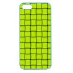 Fluorescent Yellow Weave Apple Seamless iPhone 5 Case (Color)