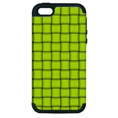 Fluorescent Yellow Weave Apple iPhone 5 Hardshell Case (PC+Silicone)