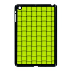 Fluorescent Yellow Weave Apple iPad Mini Case (Black)