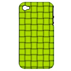 Fluorescent Yellow Weave Apple iPhone 4/4S Hardshell Case (PC+Silicone)