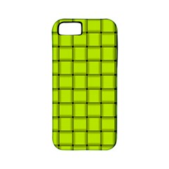 Fluorescent Yellow Weave Apple Iphone 5 Classic Hardshell Case (pc+silicone)