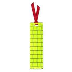 Fluorescent Yellow Weave Small Bookmark