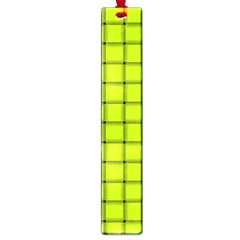 Fluorescent Yellow Weave Large Bookmark