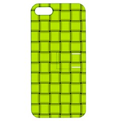 Fluorescent Yellow Weave Apple iPhone 5 Hardshell Case with Stand