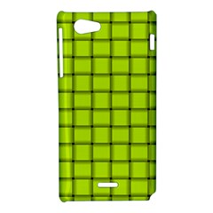 Fluorescent Yellow Weave Sony Xperia J Hardshell Case