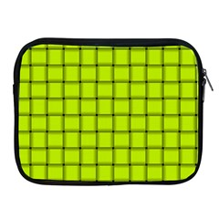 Fluorescent Yellow Weave Apple iPad 2/3/4 Zipper Case