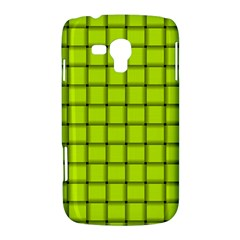 Fluorescent Yellow Weave Samsung Galaxy Duos I8262 Hardshell Case