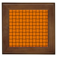 Orange Weave Framed Ceramic Tile