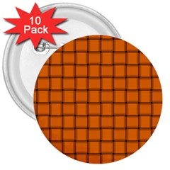 Orange Weave 3  Button (10 Pack)