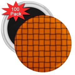 Orange Weave 3  Button Magnet (100 pack)