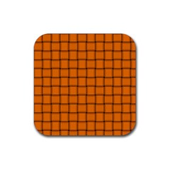 Orange Weave Drink Coaster (Square)