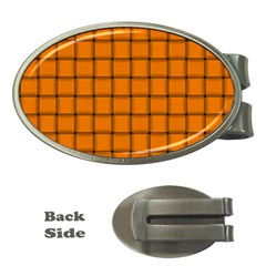 Orange Weave Money Clip (oval)