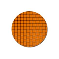 Orange Weave Magnet 3  (Round)
