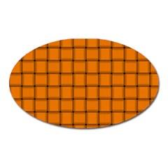 Orange Weave Magnet (Oval)