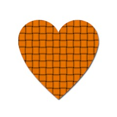 Orange Weave Magnet (heart)