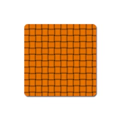 Orange Weave Magnet (Square)