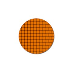 Orange Weave Golf Ball Marker