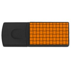 Orange Weave 2GB USB Flash Drive (Rectangle)