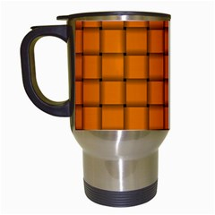Orange Weave Travel Mug (White)