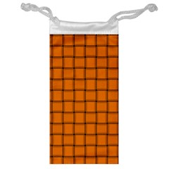 Orange Weave Jewelry Bag