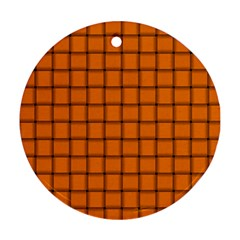 Orange Weave Round Ornament (Two Sides)