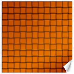 Orange Weave Canvas 16  X 16  (unframed)