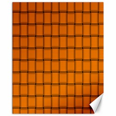 Orange Weave Canvas 16  x 20  (Unframed)