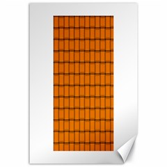 Orange Weave Canvas 24  X 36  (unframed)