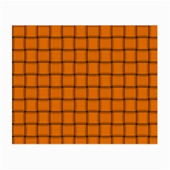 Orange Weave Glasses Cloth (small, Two Sided)