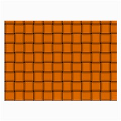 Orange Weave Glasses Cloth (large, Two Sided)