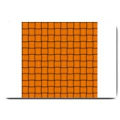 Orange Weave Large Door Mat