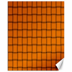 Orange Weave Canvas 11  x 14  9 (Unframed)