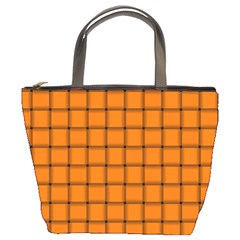 Orange Weave Bucket Bag